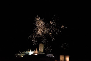 Feuerwerk in Waxenberg